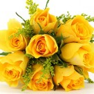 friendship_is_only_a_step_away_with_yellow_flowers