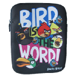 Angry Bird Neoprene Black with Text IPad Sleeve