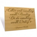 Benjamin Franklin Quote Plaque - 7.5 x 10 inch