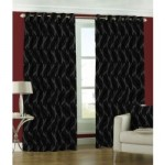 Abstract Pattern Curtain-Black