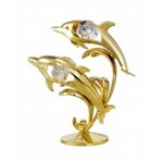 Dolphin (Double) 24 karat gold micro plated, 8 X 10 cm