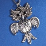 Silver Finish Owl Pendant Necklace